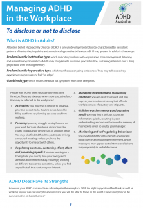 ADHD Workplace - Disclose or Not - IMAGE